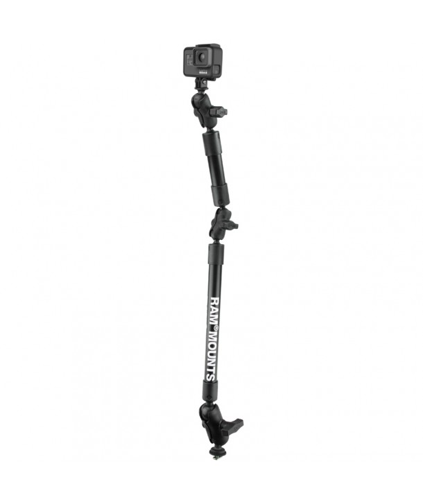 """Ram-Mounts 22"""" Tough-Pole™ Camera Mount with Track Ball™ Base / Schienensystem GoPro"""