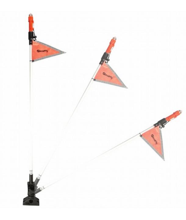 Scotty 828 Folding Sea Light mit Flagge