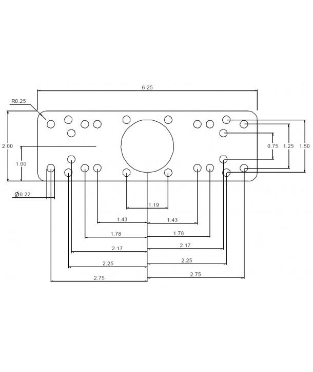 """Ram-Mounts RAM-111BU 1,5"""" Base / Basisplatte"""